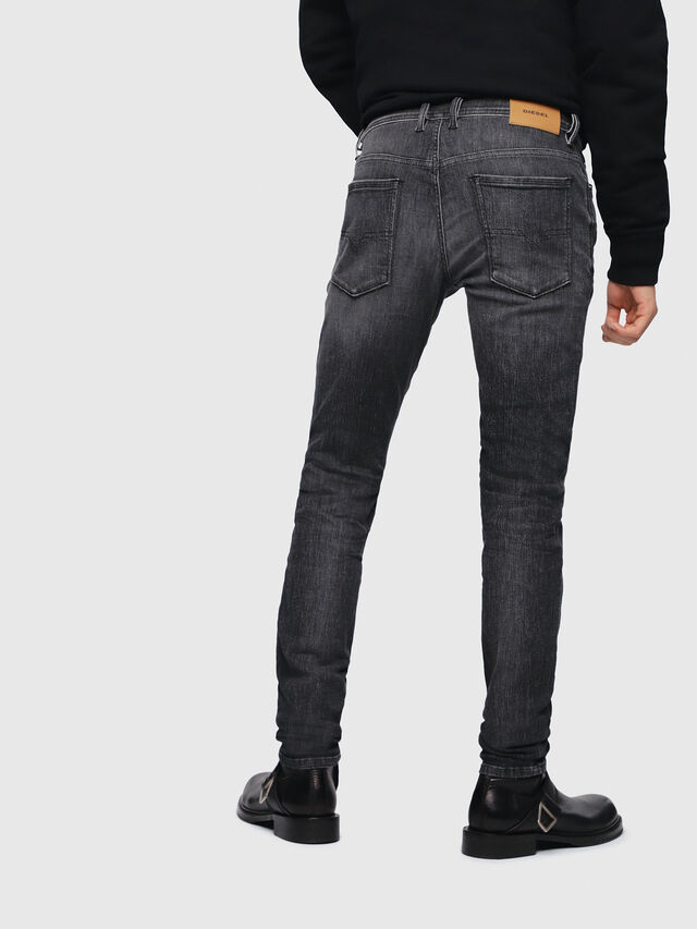 Diesel - Sleenker 089AA, Nero/Grigio scuro - Jeans - Image 2