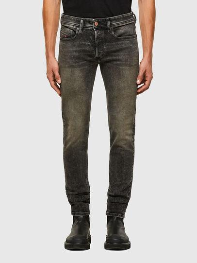 Diesel - Sleenker 009IS, Nero/Grigio scuro - Jeans - Image 1