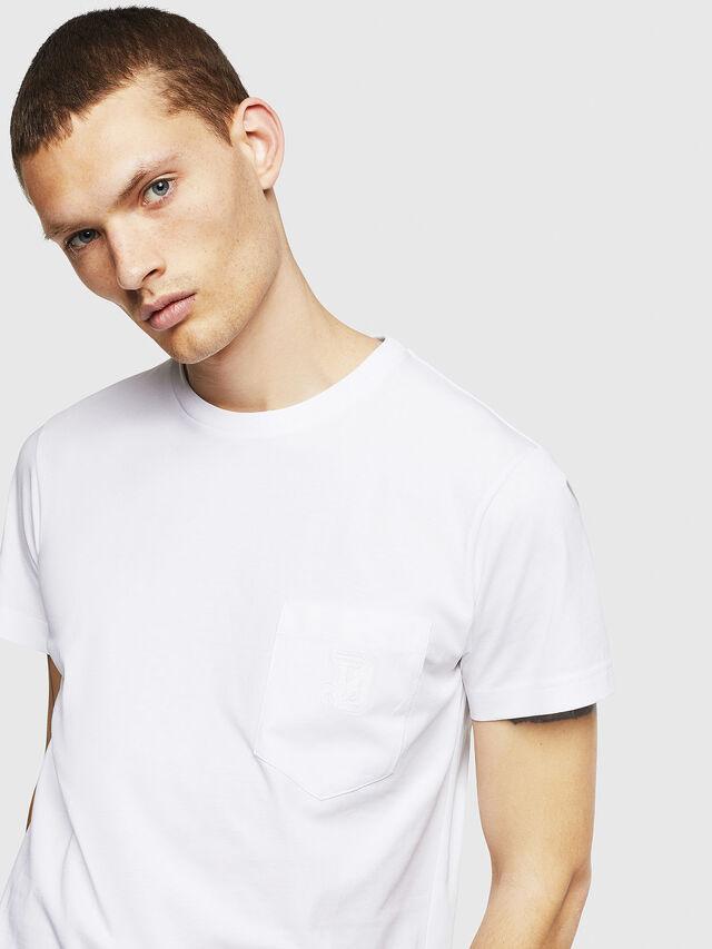 Diesel - T-DIEGO-POCKET-B1, Bianco - T-Shirts - Image 3