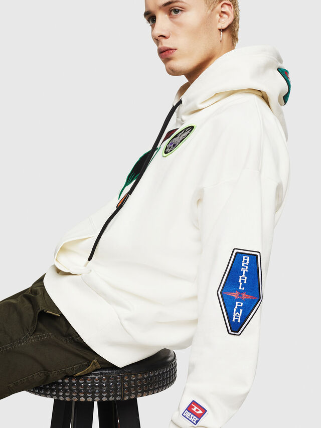 Diesel - S-ALBY-PATCHES, Bianco - Felpe - Image 4