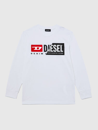 Diesel - TDIEGOCUTY ML, Bianco - T-shirts e Tops - Image 1