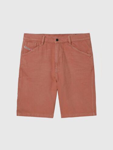 Shorts straight in denim colorato
