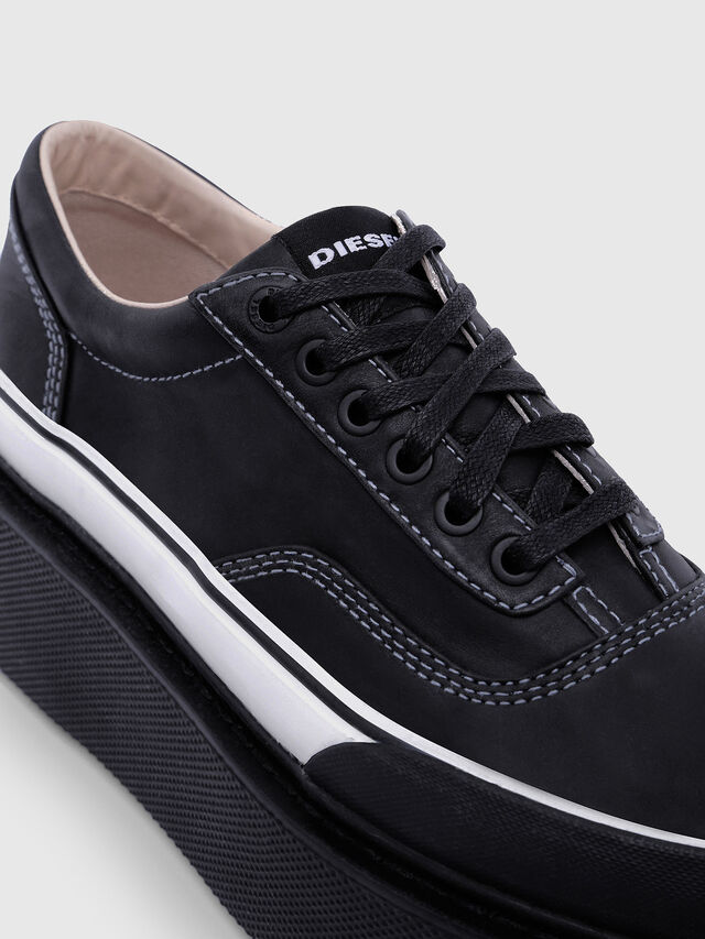 Diesel - H-SCIROCCO LOW, Nero/Bianco - Sneakers - Image 4