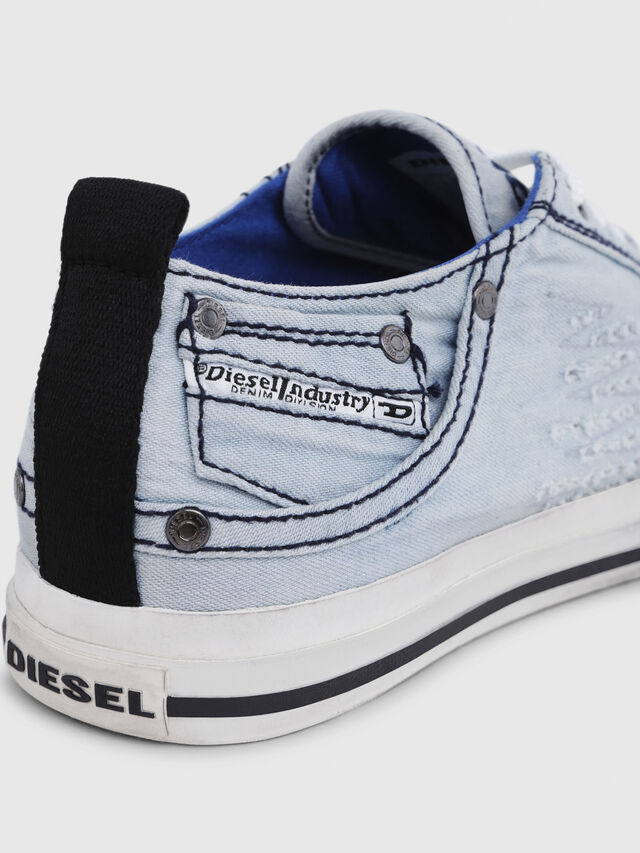 Diesel - EXPOSURE LOW I, Blu Chiaro - Sneakers - Image 5