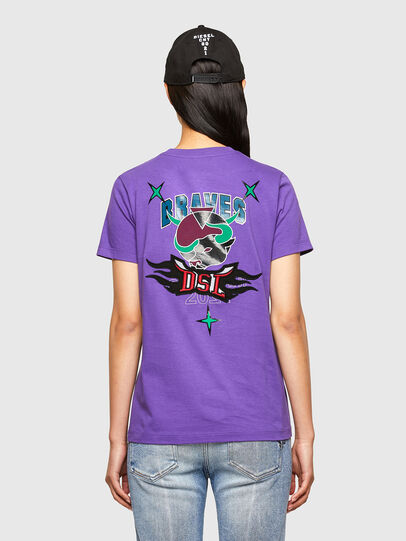 Diesel - CL-T-SILY-O, Viola - T-Shirts - Image 2
