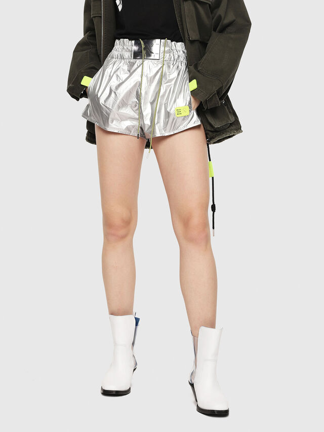 Diesel - S-DEMIBY, Argento - Shorts - Image 1