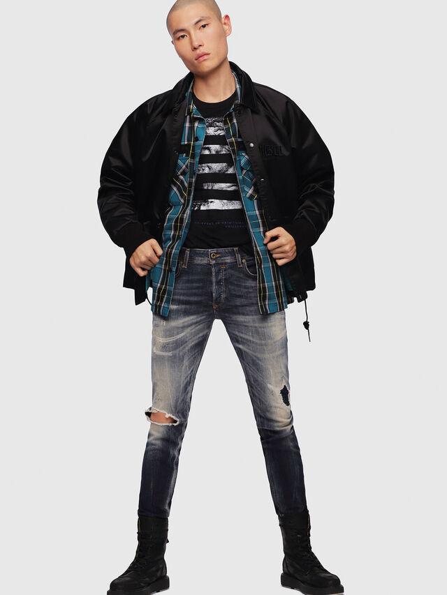 Diesel - Sleenker 069DJ, Blu Scuro - Jeans - Image 4