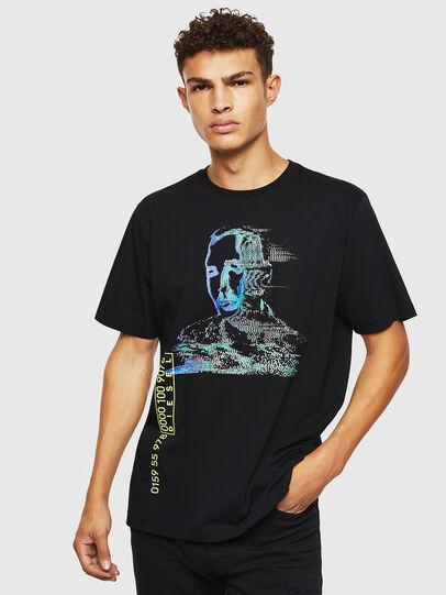 Diesel - T-JUST-J12, Nero - T-Shirts - Image 1