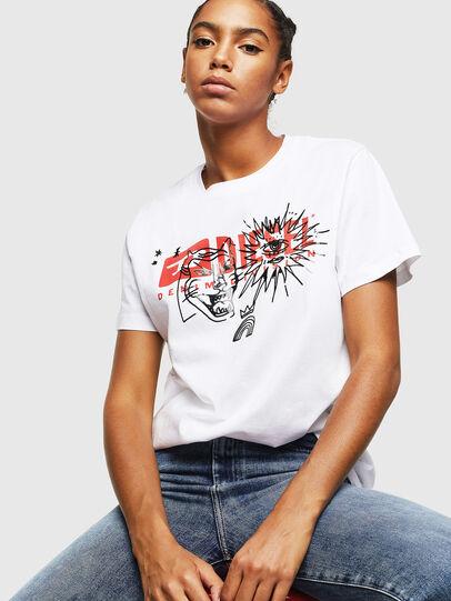 Diesel - T-DARIA-YC, Bianco - T-Shirts - Image 4