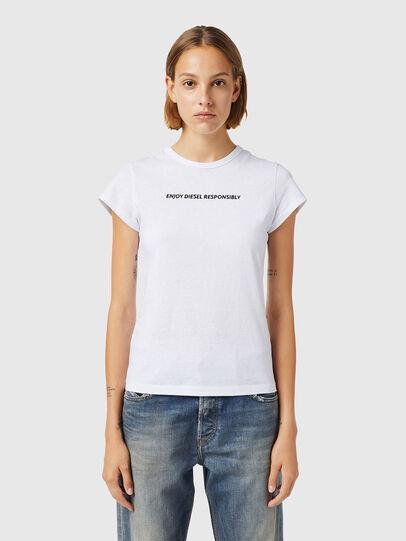 Diesel - T-SLICUP-B3, Bianco - T-Shirts - Image 1
