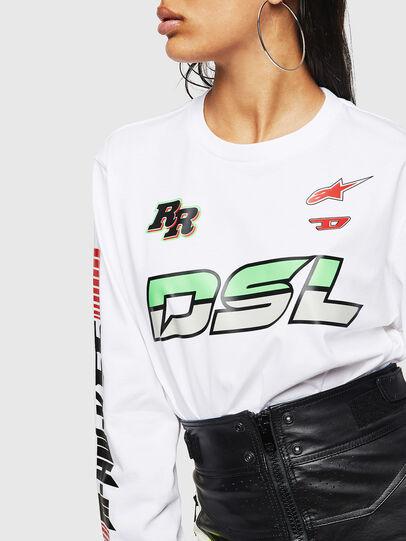Diesel - ASTARS-T-JUST-LONG-F, Bianco - T-Shirts - Image 6