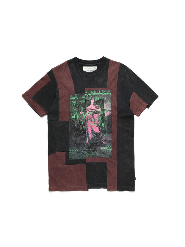 D-FRANK&STEIN, Rosso/Nero - T-Shirts