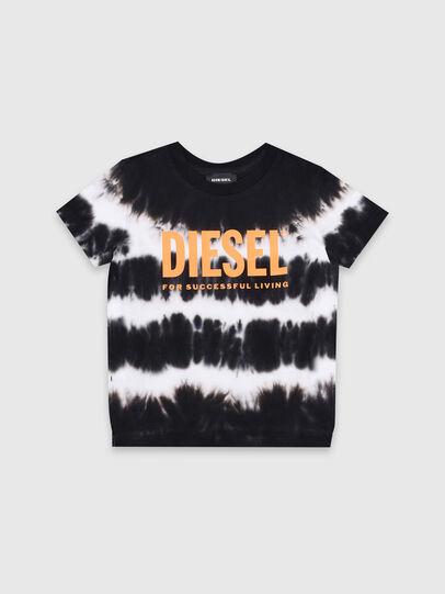 Diesel - TAREZB-R, Nero/Bianco - T-shirts e Tops - Image 1
