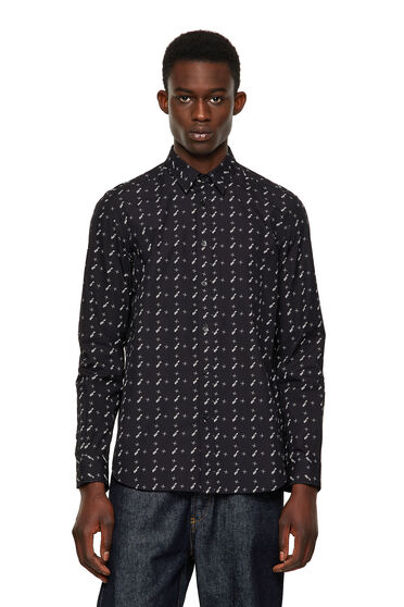 Camicia in popeline di cotone stampato