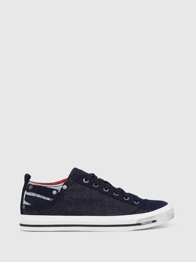 Diesel - EXPOSURE IV LOW  W, Blu Scuro - Sneakers - Image 1
