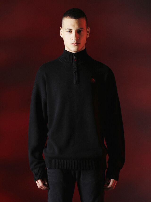 Diesel - DVL-KNIT-SPECIAL COLLECTION, Nero - Maglieria - Image 1
