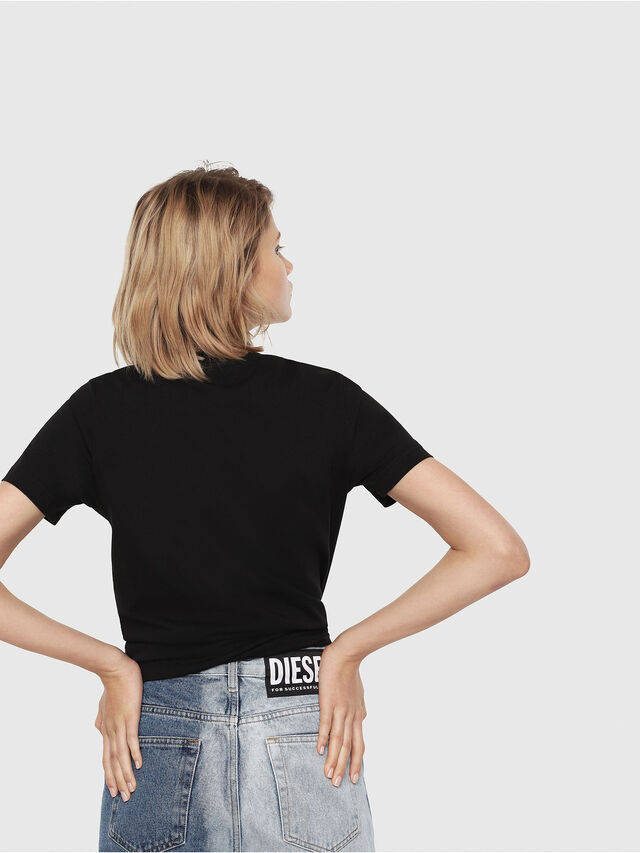 Diesel - T-SILY-C3, Nero/Rosa - T-Shirts - Image 2