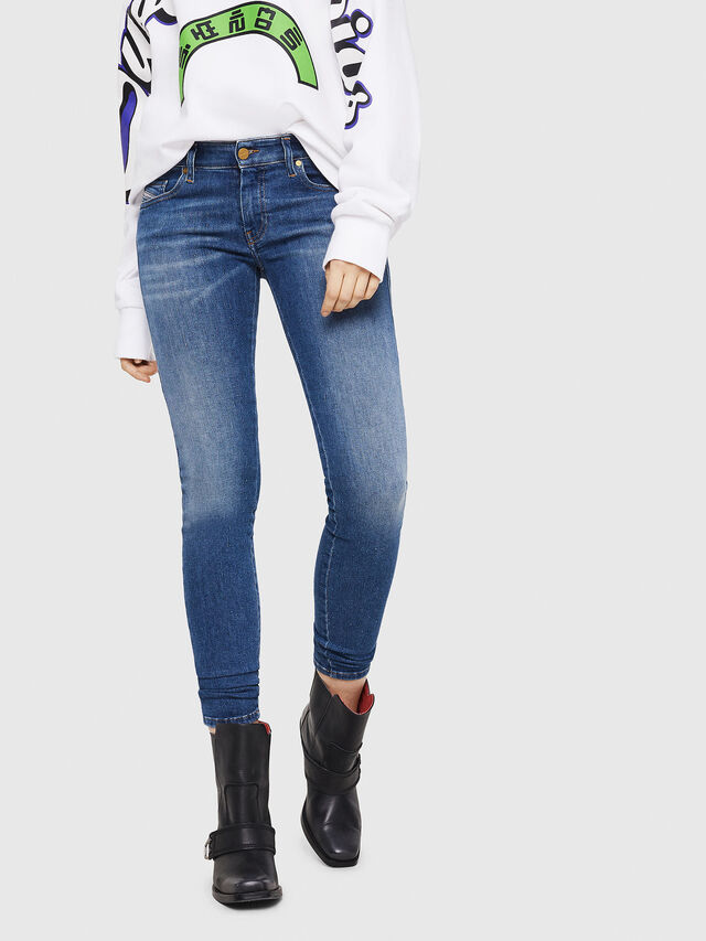 Diesel - Slandy Low 088AU, Blu medio - Jeans - Image 1