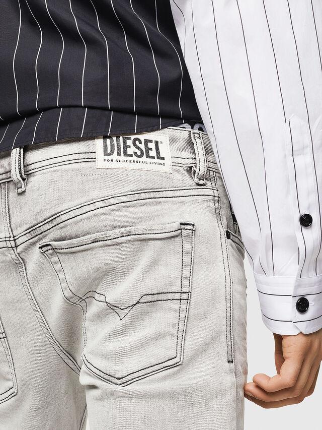 Diesel - Sleenker 0090F, Grigio Chiaro - Jeans - Image 5