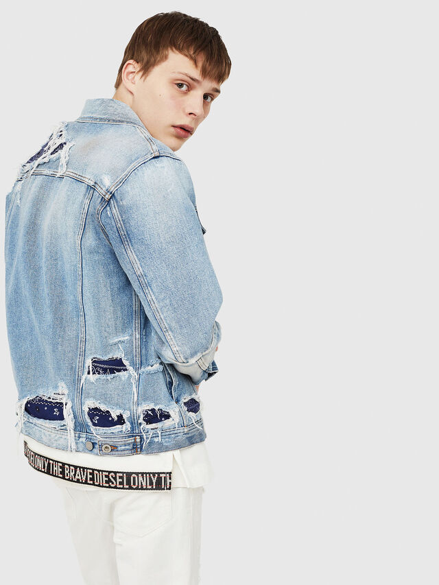 Diesel - NHILL-TM, Blu Jeans - Giacche in denim - Image 4