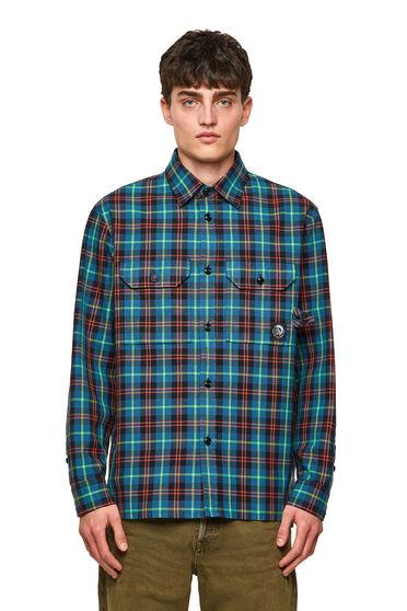 Camicia Green Label in tessuto Oxford quadrettato