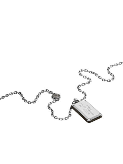 Diesel - NECKLACE DX1019, Argento - Collane - Image 2