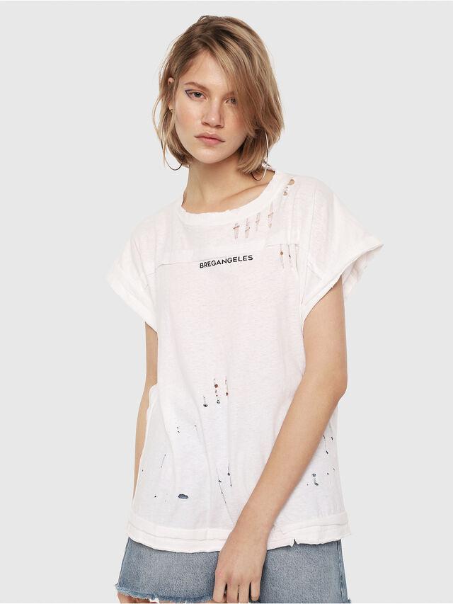Diesel - T-JAIDA, Bianco/Nero - T-Shirts - Image 1