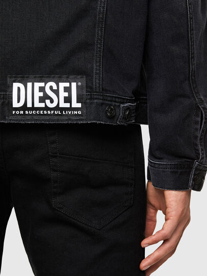 Diesel - NHILL-SP4, Nero - Giacche in denim - Image 5