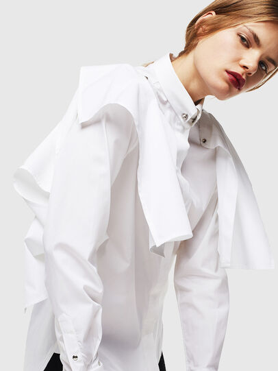 Diesel - C-RAILY-SHAPED, Bianco - Camicie - Image 8