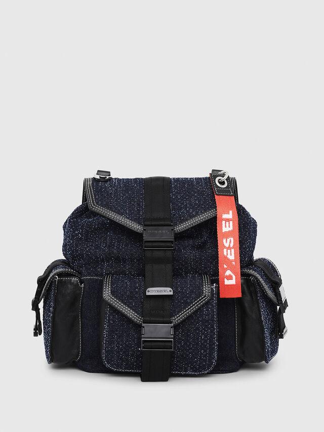 Diesel - MISS-MATCH BACKPACK, Blu Jeans - Zaini - Image 1