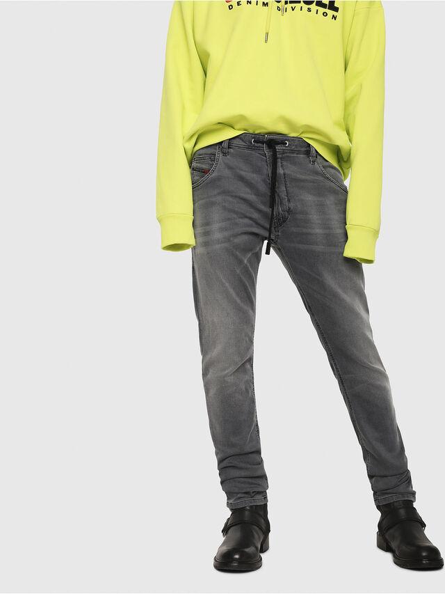 Diesel - Krooley JoggJeans 069EH, Nero/Grigio scuro - Jeans - Image 1