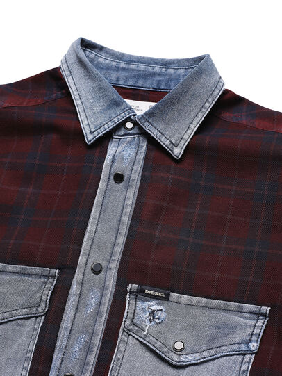 Diesel - D-DEEPCHECK-B, Rosso - T-Shirts - Image 4