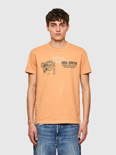 Diesel - T-DIEBIND-B1, Arancione - T-Shirts - Image 1