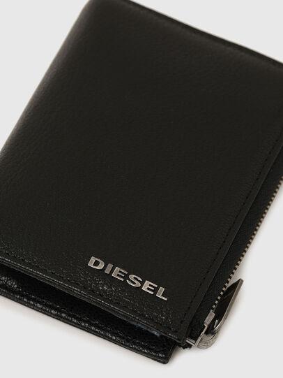 Diesel - L-12 ZIP, Nero/Blu - Portafogli Piccoli - Image 5