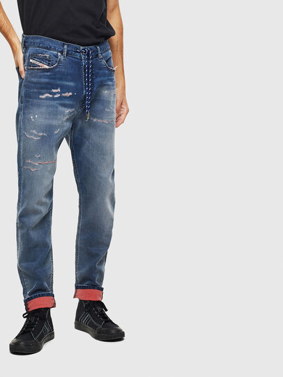 Diesel - D-Vider JoggJeans 069LW, Blu Scuro - Jeans - Image 1