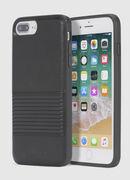 BLACK LINED LEATHER IPHONE 8 PLUS/7 PLUS/6s PLUS/6 PLUS CASE, Nero - Cover