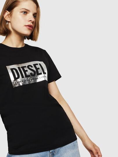 Diesel - T-FOIL, Nero - T-Shirts - Image 4