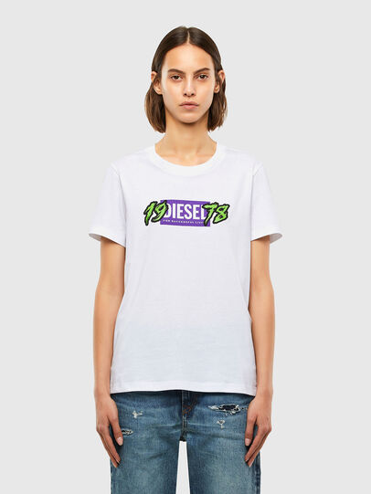 Diesel - T-SILY-K4, Bianco - T-Shirts - Image 1