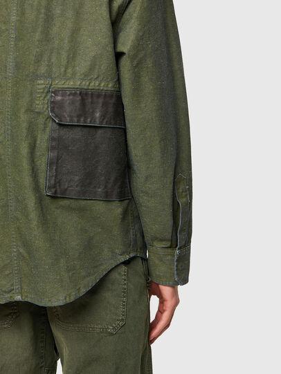 Diesel - D-CORU-SP, Verde Militare - Camicie in Denim - Image 4