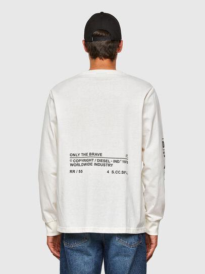Diesel - T-JUST-LS-N60, Bianco - T-Shirts - Image 2