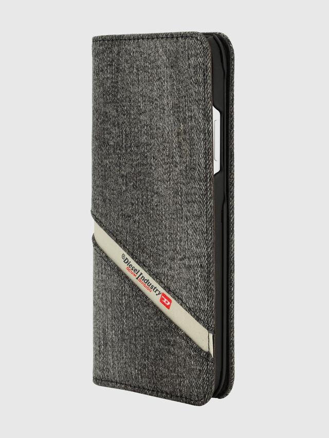 Diesel - DIESEL 2-IN-1 FOLIO CASE FOR IPHONE XR, Grigio - Cover a libro - Image 3