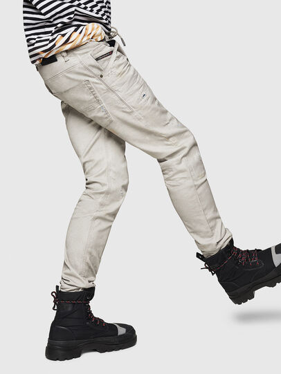 Diesel - Krooley JoggJeans 069GT, Grigio Chiaro - Jeans - Image 5