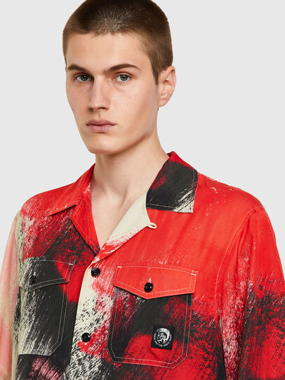 Diesel - S-WOLF-ALL, Rosso/Bianco - Camicie - Image 3