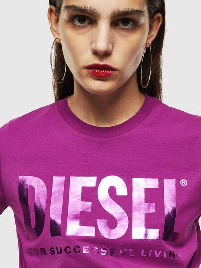 Diesel - T-SILY-WX, Viola - T-Shirts - Image 3