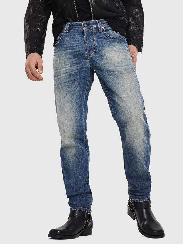 Diesel - Larkee-Beex 089AR, Blu Scuro - Jeans - Image 1