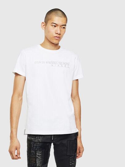 Diesel - T-DIEGO-SLITS-J6, Bianco - T-Shirts - Image 1