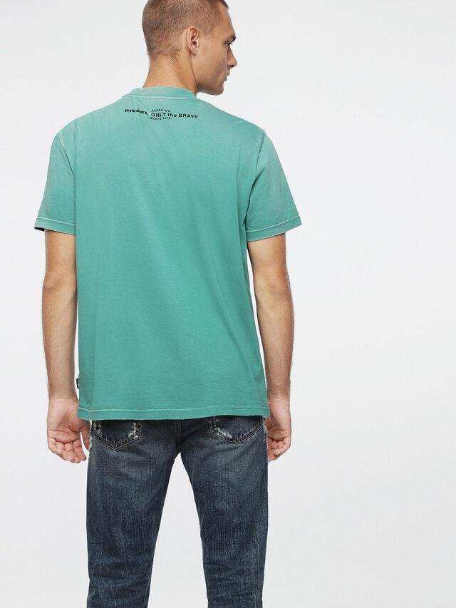 Diesel T-JOEY-T, Verde Acqua - T-Shirts - Image 2