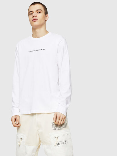 Diesel - T-JUST-LS-COPY, Bianco - T-Shirts - Image 1
