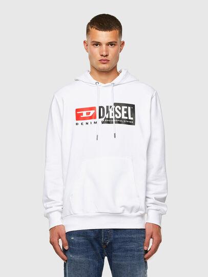 Diesel - S-GIRK-HOOD-CUTY, Bianco - Felpe - Image 4