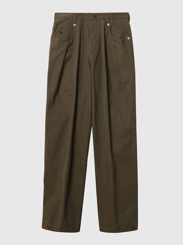 Pantaloni wide-leg in gabardine